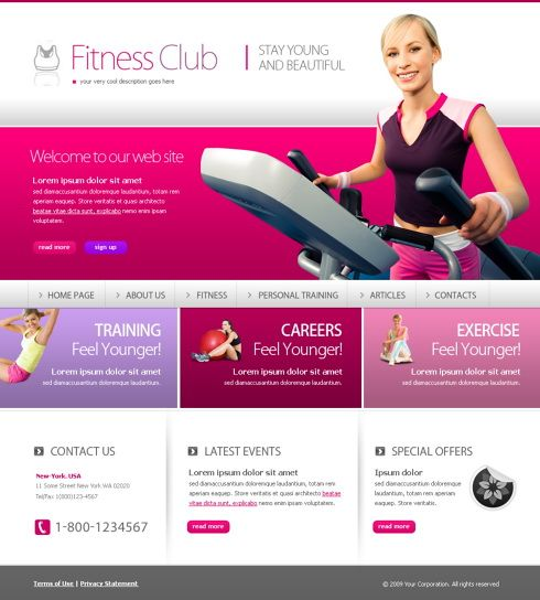 Fitness Club  Stay Young  Beautiful Free Html Template  Website