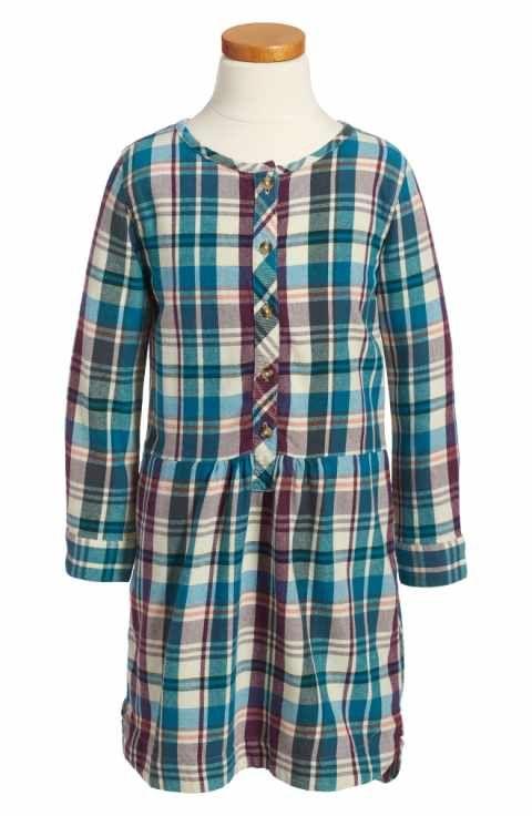 5ef682261 Tea Collection Applecross Plaid Flannel Shirtdress (Toddler Girls ...