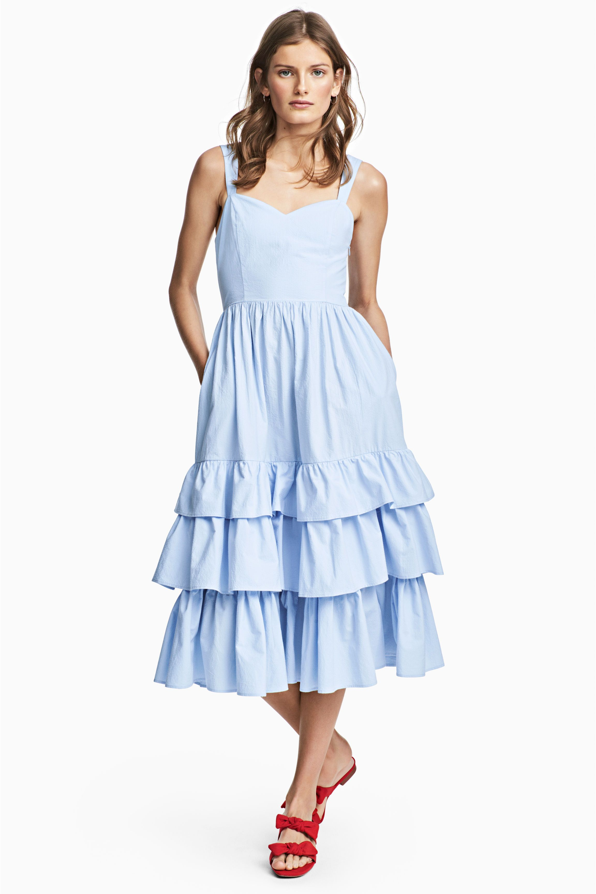 d8e6de57654f Vestido en popelina de algodón en 2019   My Wardrobe   Vestidos ...