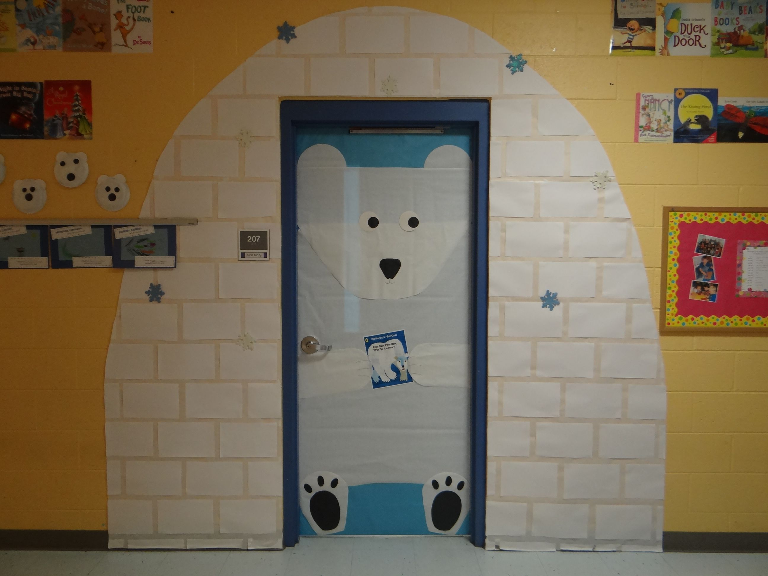 January classroom door decoration ideas - Classroom Door For Winter I Did A Polar Bear Polar Bear Theme