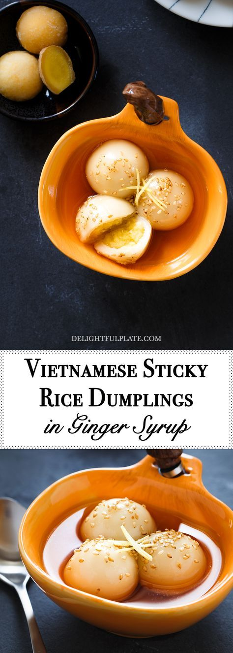Vietnamese Glutinous Rice Balls in Ginger Syrup (Che troi ...