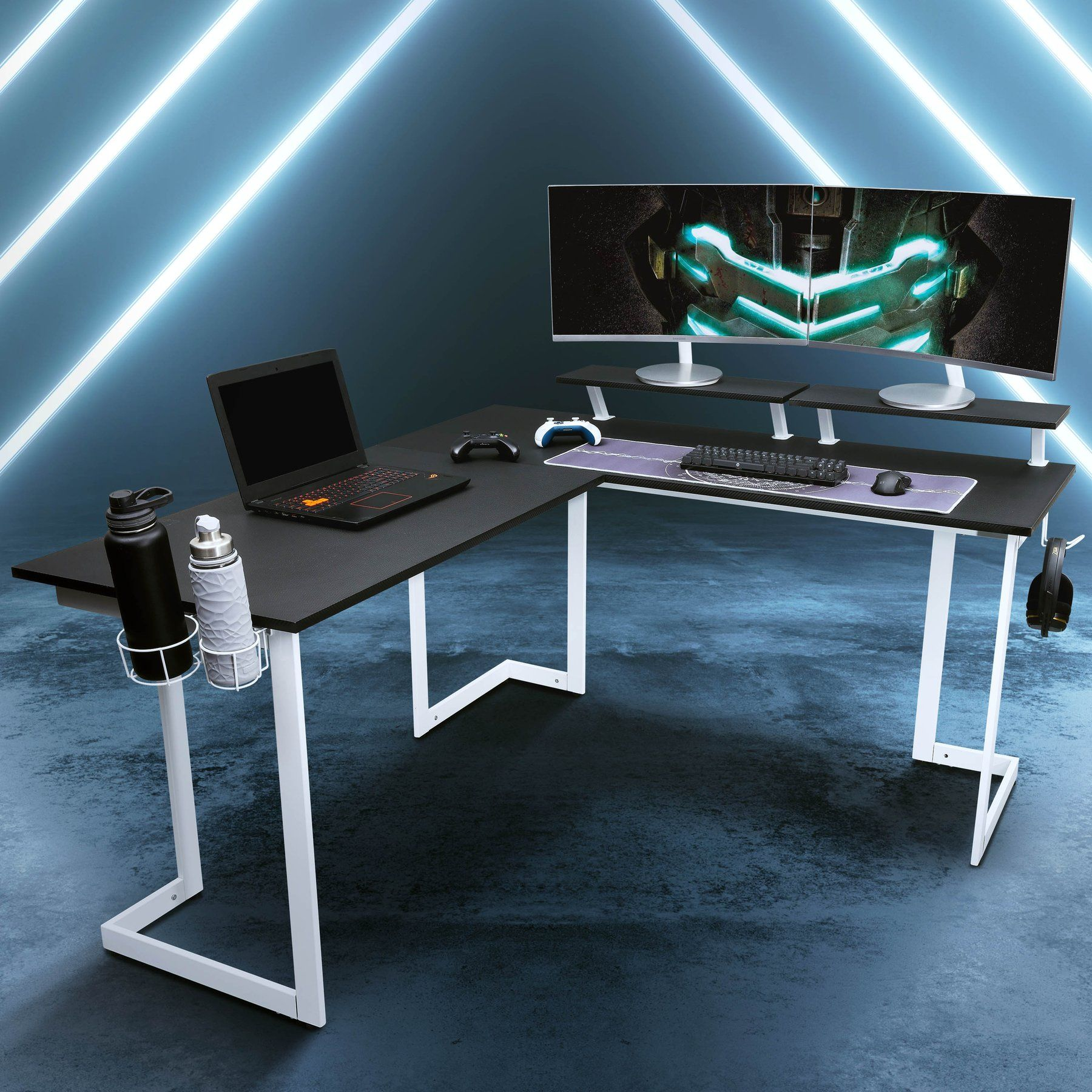 Gaming Desk Warrior in 2020 Gaming desk, Home office