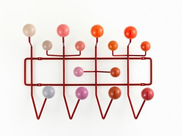 Red Eames Hang it all by Vitra