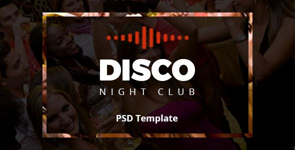 Disco Night Club - PSD Template
