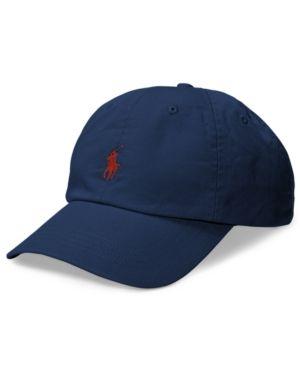 fdec679c54b Polo Ralph Lauren Men s Big   Tall Cotton Chino Sports Cap - Navy  Rl Red