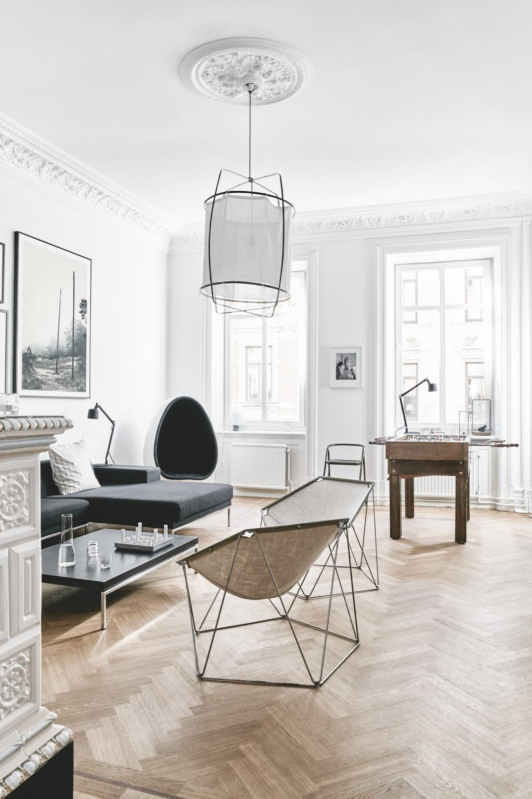 Beautiful Living Room Inside Of A Ious Danish Apartment