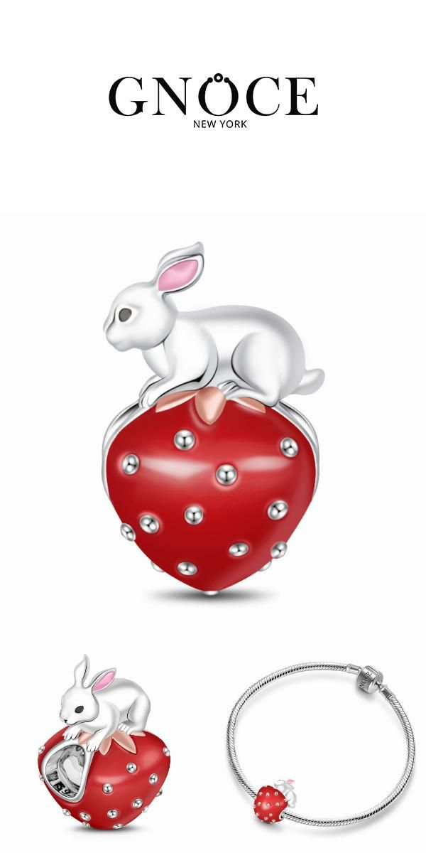 jewellerybox Sterling Silver Rabbit Clip on Charm