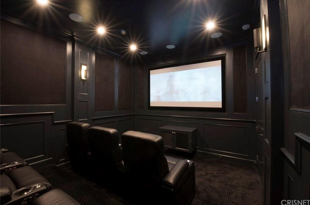 home theater interior design 2. Dark Perfect Small Home Theater Los Angeles CA 2  A perfect little two