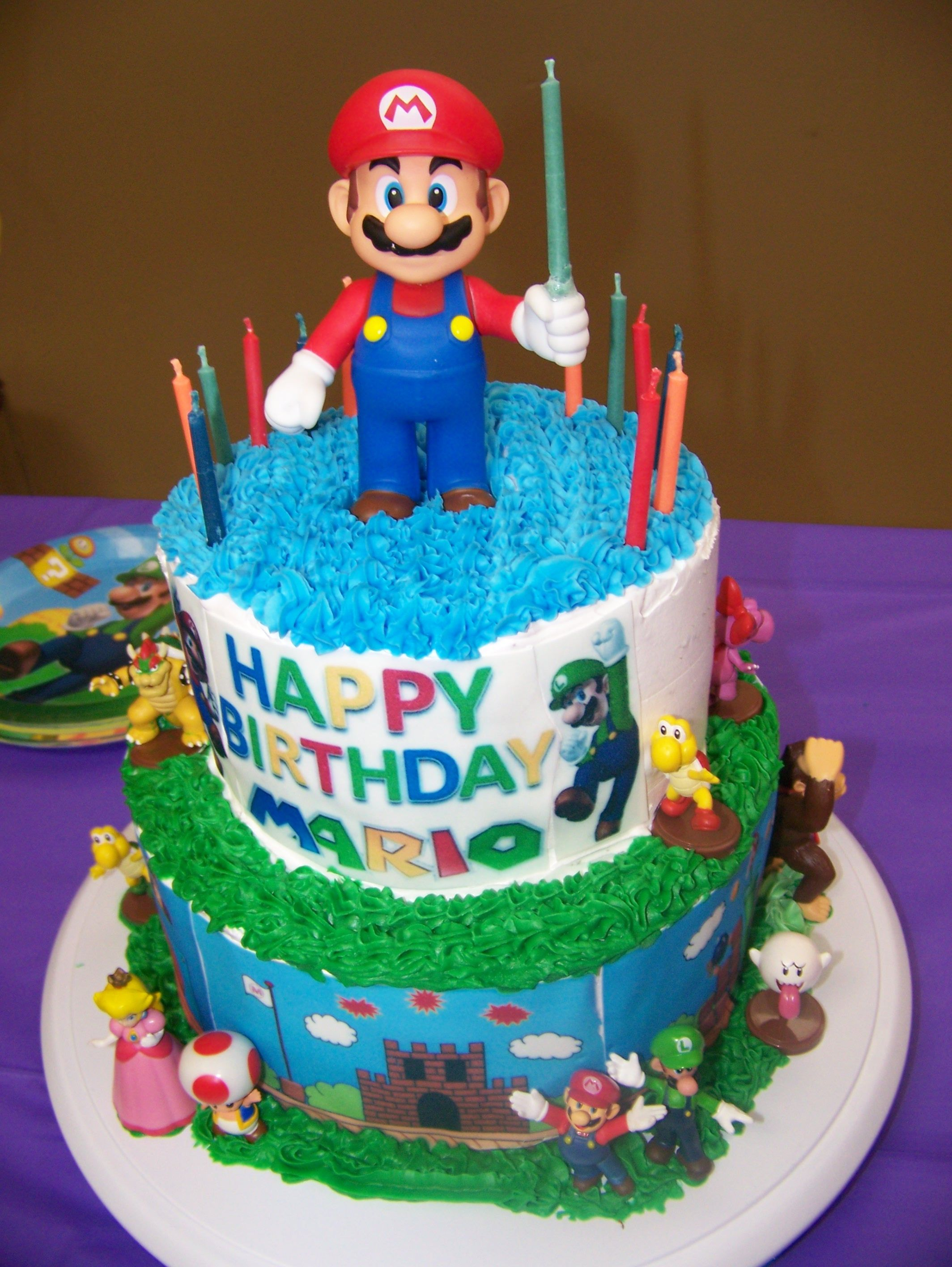 Marios 12th birthday cake super mario theme happy