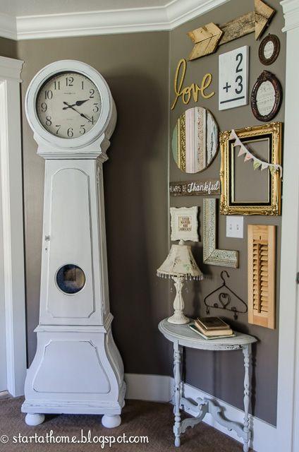 diy painted clock and a gallery wall gallery wall clocks and walls