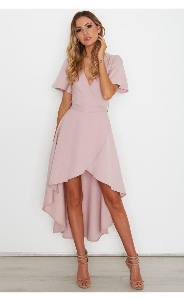 Poppie Dress Dusty Pink - Dresses - Clothing