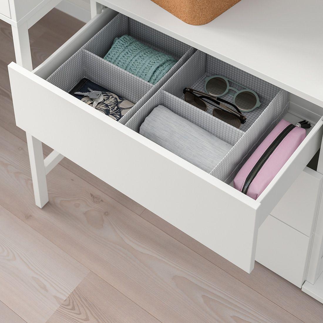 PLATSA white, Fonnes white, Storage comb w 6 doors+3