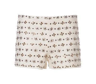Image 6 of EMBROIDERED SHORTS WITH BEADING from Zara