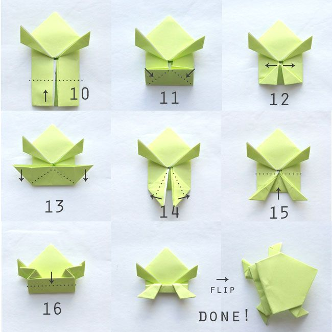 Nice Photo Instructions Show How To Hold An Origami Jumping Frog Looks Easy Enough For Kids