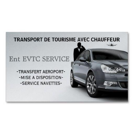 Exploitant de Voitures de Tourisme avec Chauffeur Cartes De Visite Personnelles