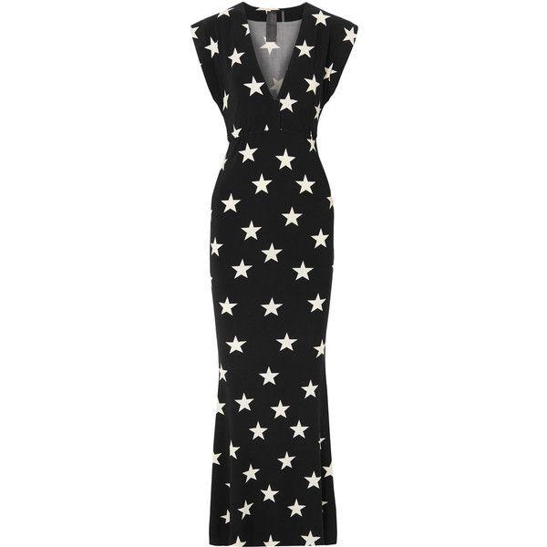 Norma Kamali Woman Printed Stretch-jersey Dress Black Size XL Norma Kamali Kx9UhdY24U