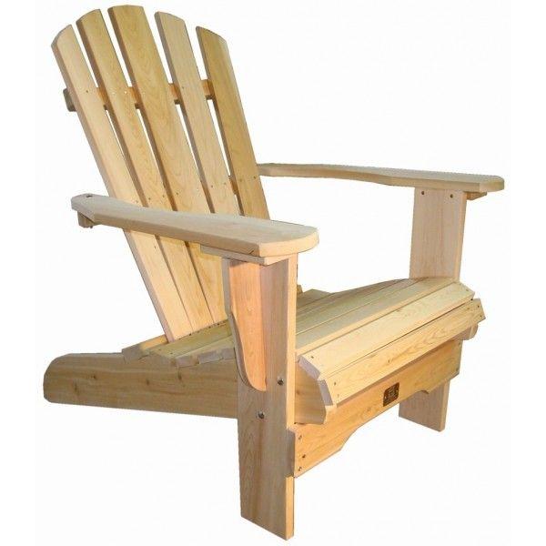 Fauteuil adirondack sans repose pieds fauteuil fixe bois for Chaise adirondack bois