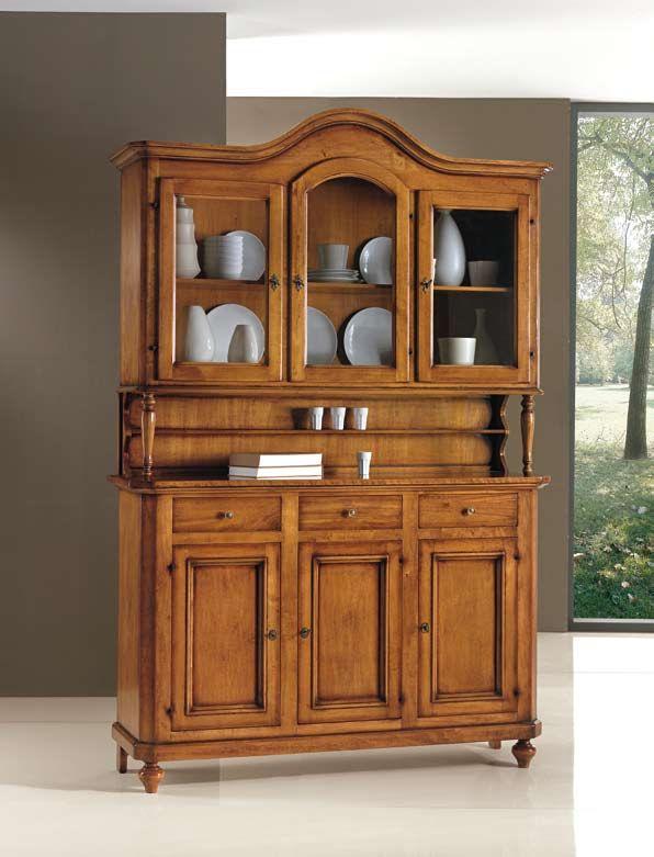 Alacena de madera alacenas y o vitrinas pinterest Disenos de muebles de cocina en madera
