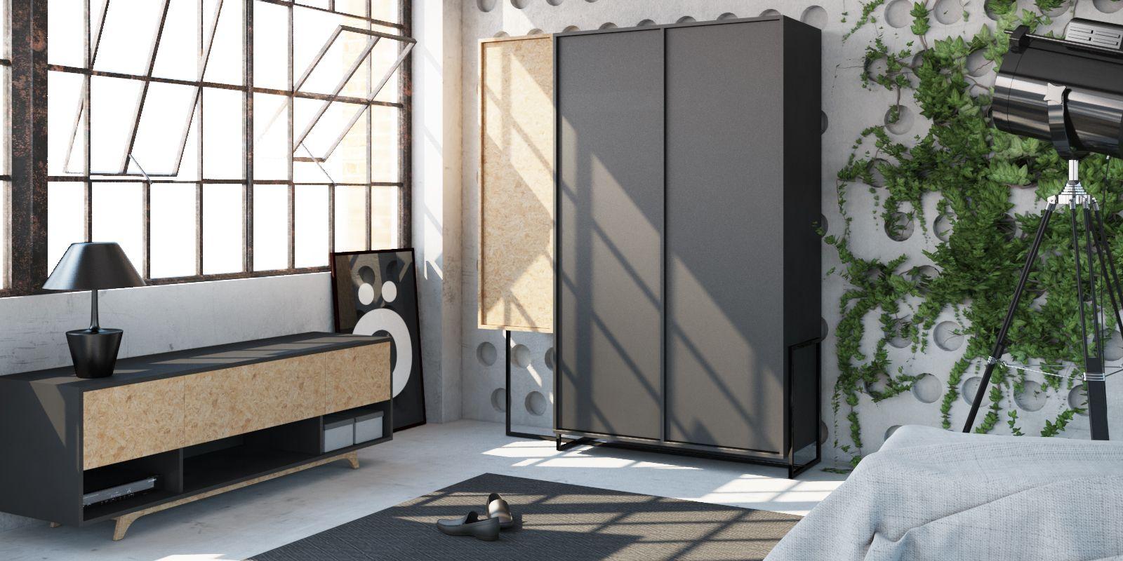 Wardrobe 3-door AA058 KROOD STEEL