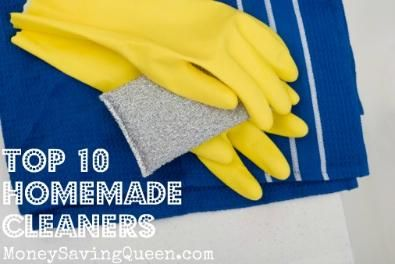 Top 10 Homemade Cleaners.  Great tips!