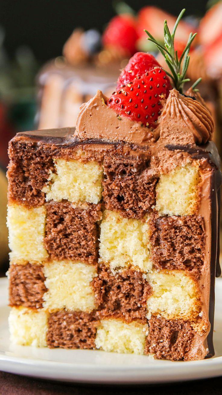 Christmas Damier Cake ~ Recipe