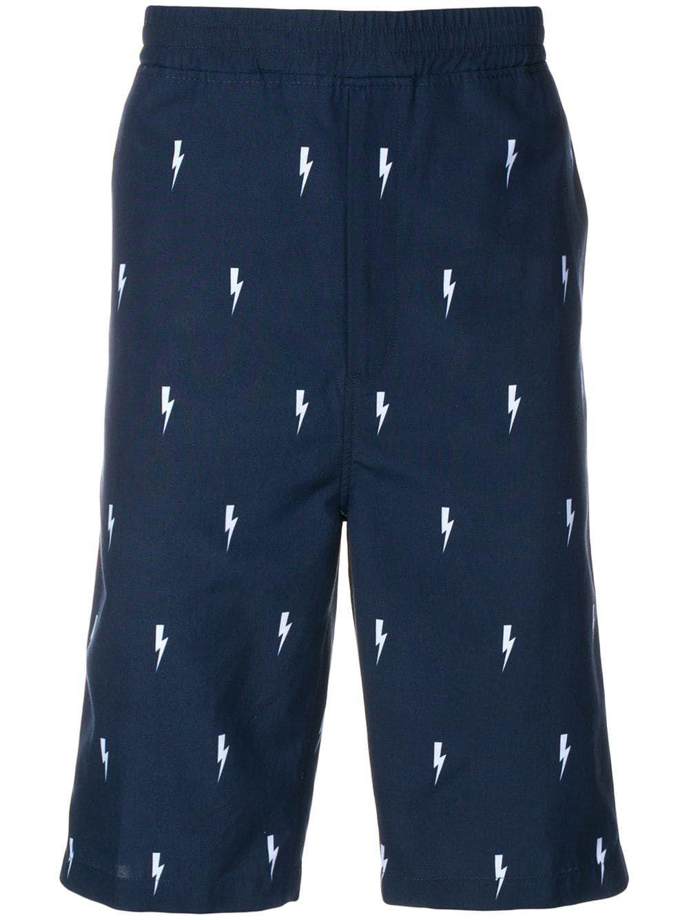 c115b37dd6 Neil Barrett lightning bolt track shorts - Blue | Products in 2019 ...