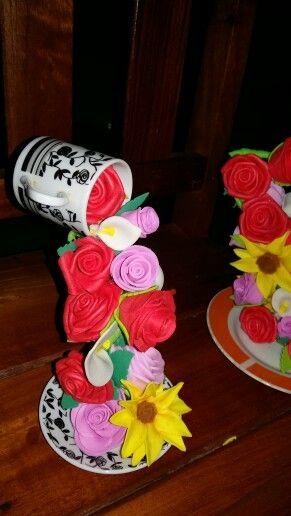 Cascata de flores eva