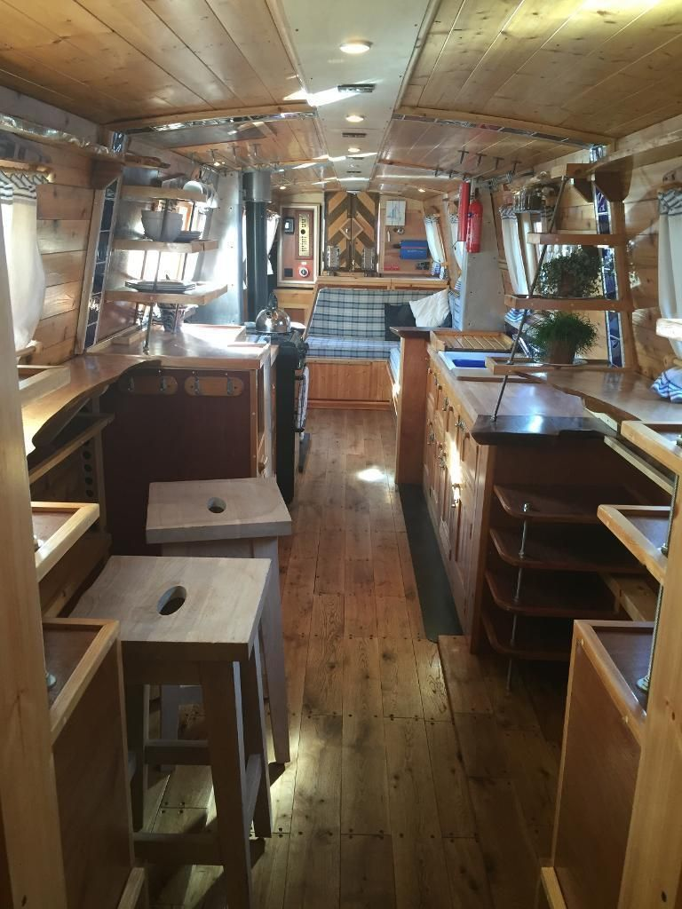 54 Ocean Going Narrow Boat Year Round Cruising Live Aboard New