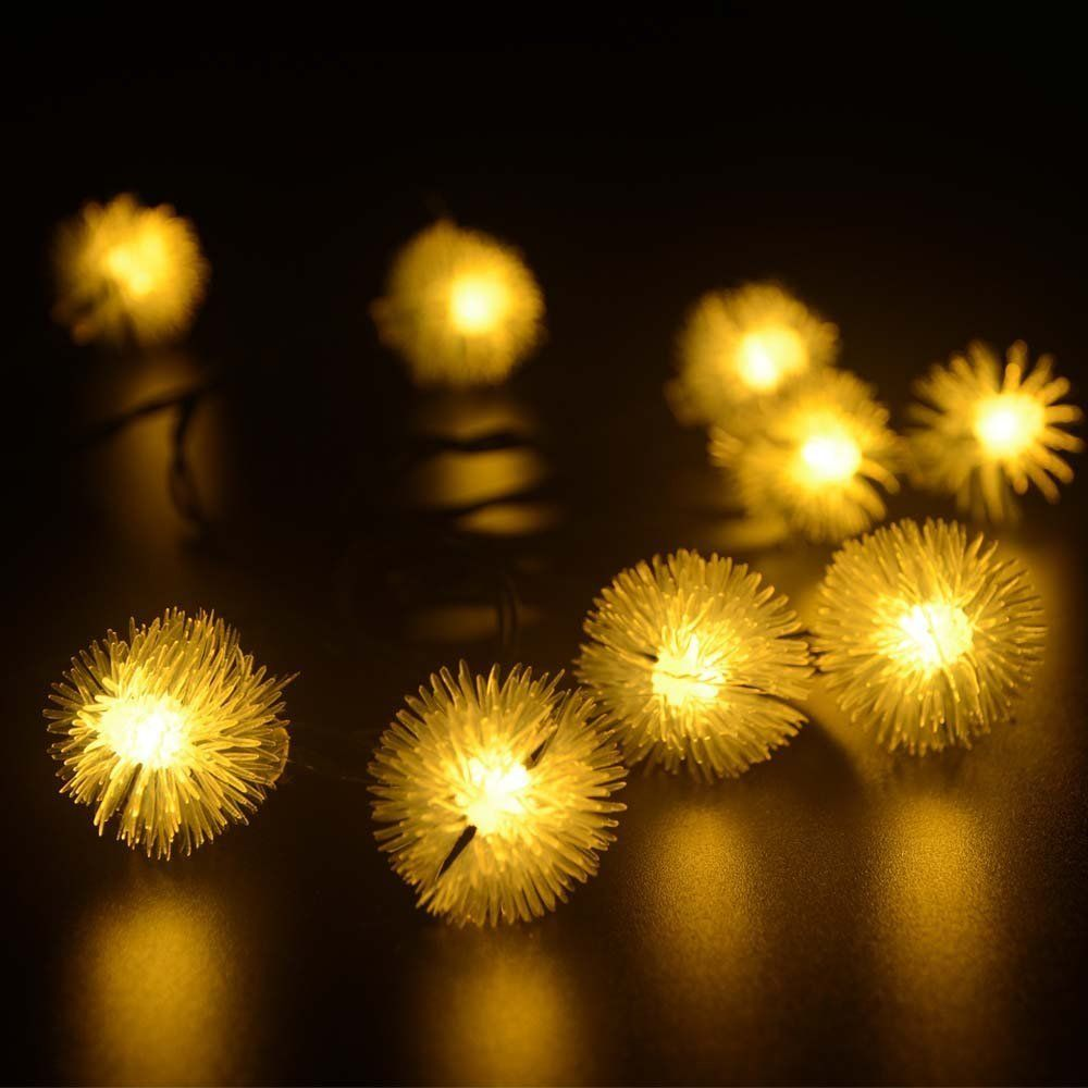 amazoncom ledertek solar christmas lights 15ft 20 led chuzzle ball solar string lgihts for homes christmas gardens wedding party decoration - Solar Christmas Lights Amazon