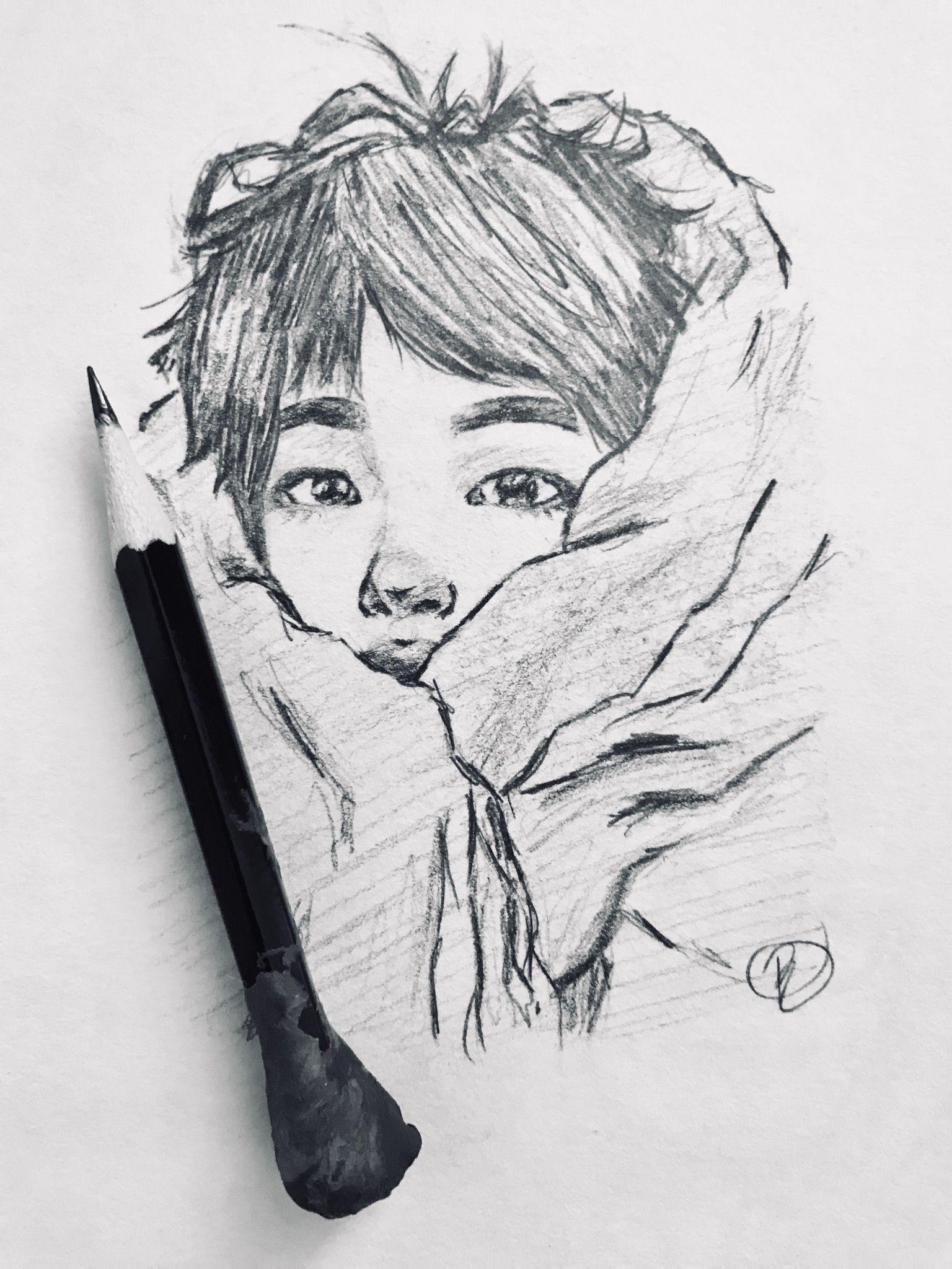 Worldwide cutieeee 🤗♥️♥️ art jin bts sketch fanart