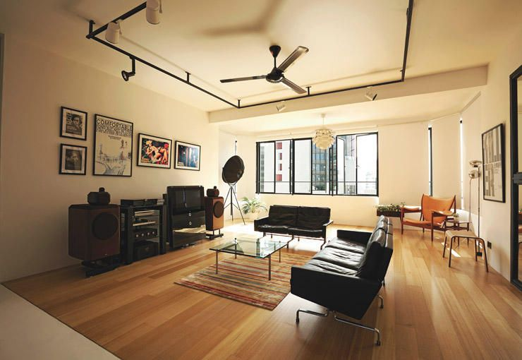 Mood board large get creative with exposed pipes home decor singapore exposed track for Track lighting for living room