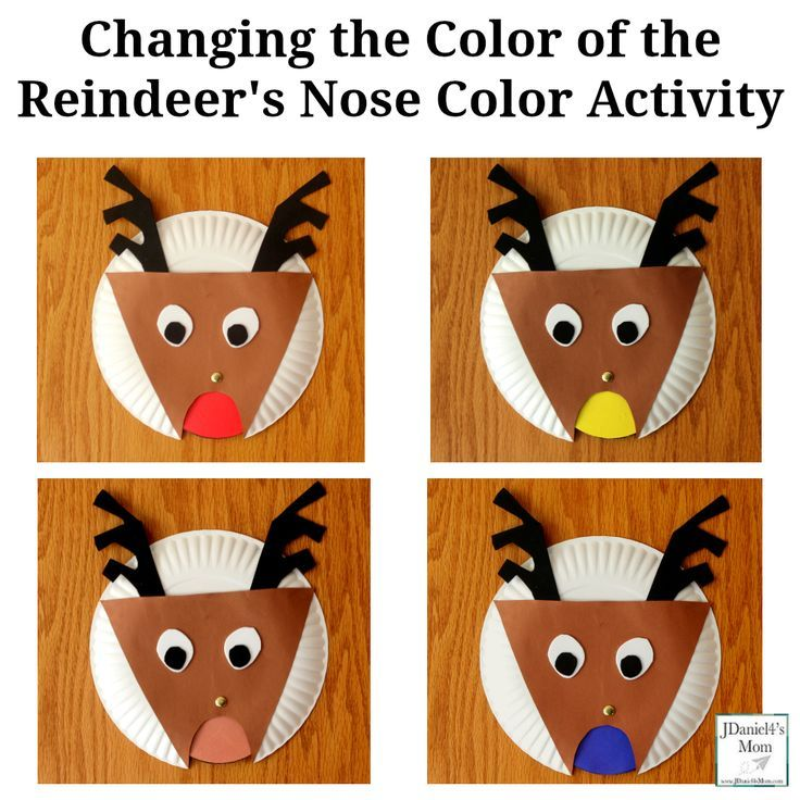 Changing the Color of the Reindeer\u0027s Nose Color Activity   PAPER PLATE CRAFTS FOR KIDS   Pinterest   Color activities Activities and Reindeer noses  sc 1 st  Pinterest & Changing the Color of the Reindeer\u0027s Nose Color Activity   PAPER ...