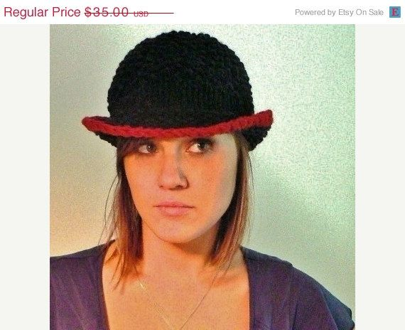 APRIL SALE Womens Celebration Hat in Black with by mckelveydalton, $30.00