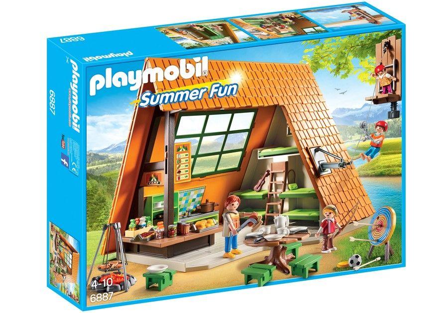 Playmobil 6887 - casa vacanze con area giochi e tavoli da pic-nic