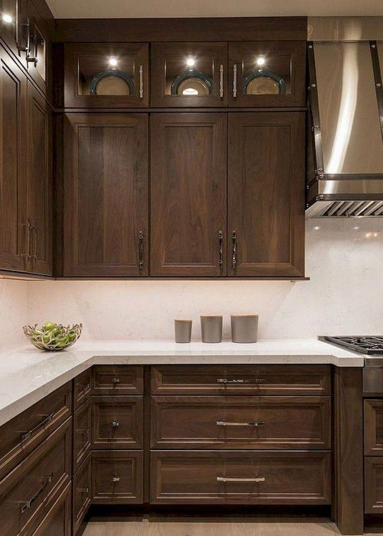 9+ Lovely Kitchen Backsplash with Dark Cabinets Decor Ideas ...
