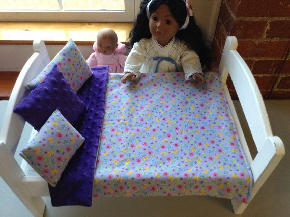 Purple Doll Bedding Set 15-18 inch Dolls 4 by DollBeddingShop