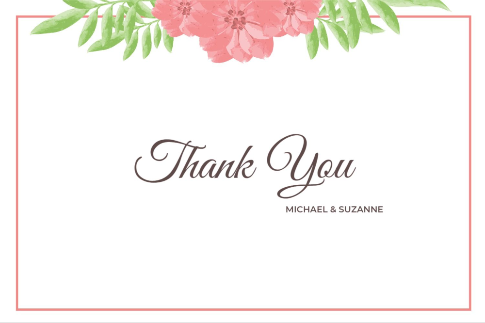 A Thanking Message From The Groom And Bride From The Set Of Colorful Floral Weddi Wedding Invitation Templates Colorful Wedding Invitations Wedding Invitations