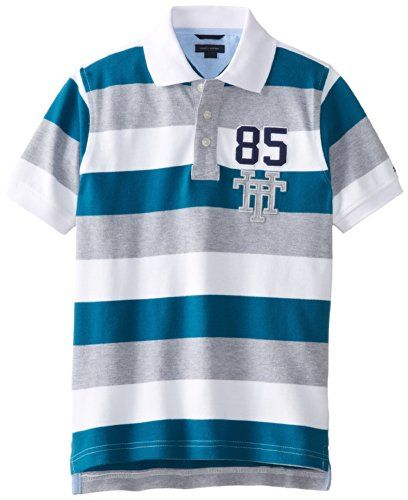 Tommy Hilfiger Big Boys' Short Sleeve Page Stripe Polo, Deepwater, Medium Tommy Hilfiger http://www.amazon.com/dp/B00K1SJO12/ref=cm_sw_r_pi_dp_zfMOub16NGXYV