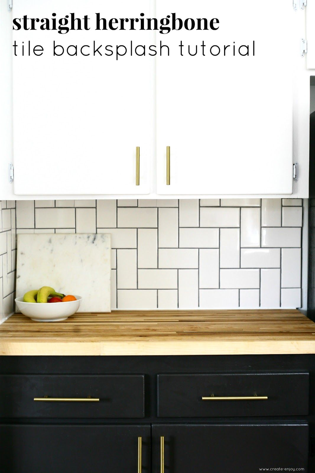 Straight Herringbone Tile Backsplash Tutorial Tutorials From