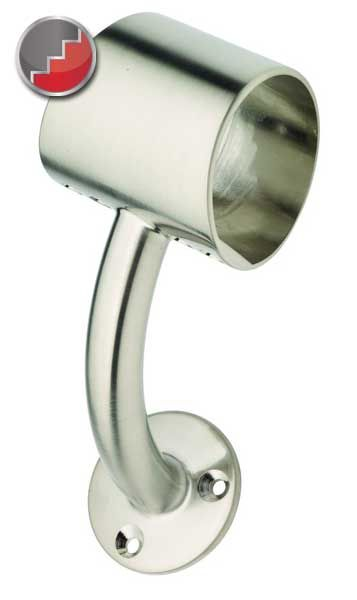 Fusion Brushed Nickel Stair Handrail Fittings Richard Burbidge Fusion Handrail Handrail Brackets Wall Mounted Handrail