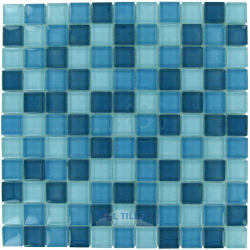 Optimal Tile | OTT-SD056 | Sky Blue Blend | Tile > Glass Tile