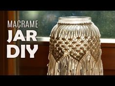 DIY Macramé Jar Cover | Boho Candle Holder Tutorial