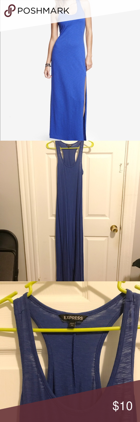 Express blue racerback maxi dress racerback maxi dress cotton