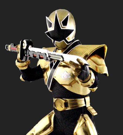 Power Rangers Mega Mode Gold Ranger Cosplay Costume