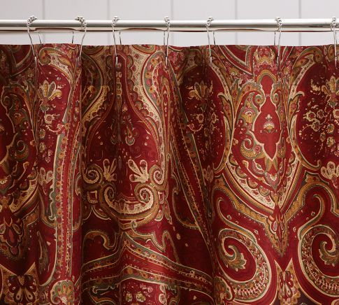 alice paisley shower curtain pottery