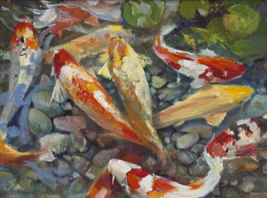 Koi fish art koi fish pond koi pinterest koi fish for Koi pond art