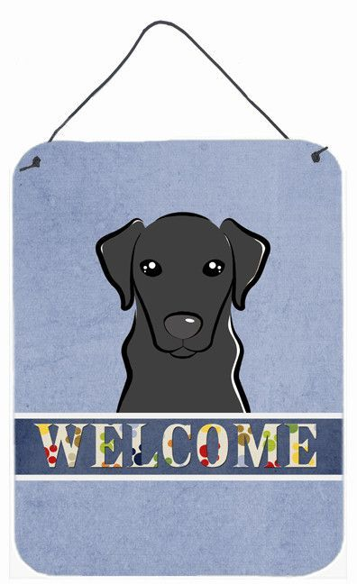 Black Labrador Welcome Wall or Door Hanging Prints BB1421DS1216