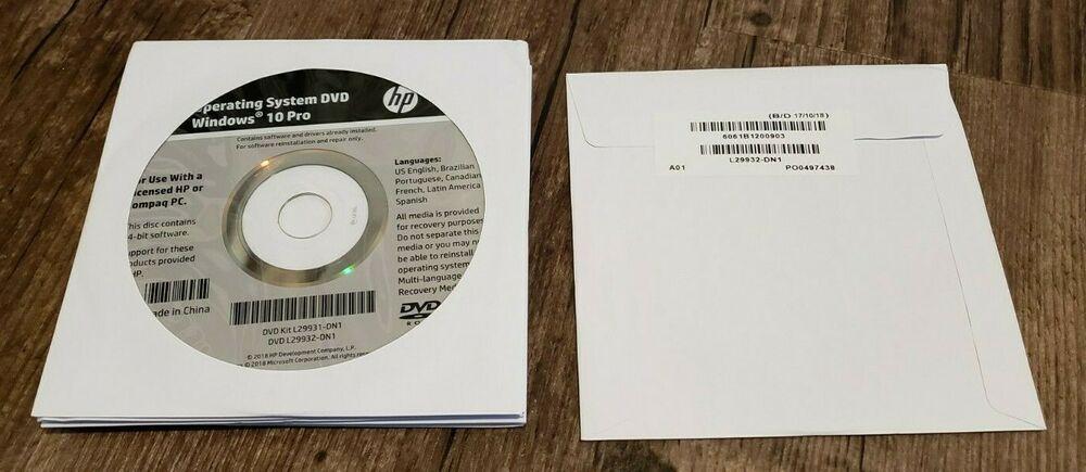 Ebay Sponsored New Sealed Hp Windows 10 Pro 64bit Os Restore