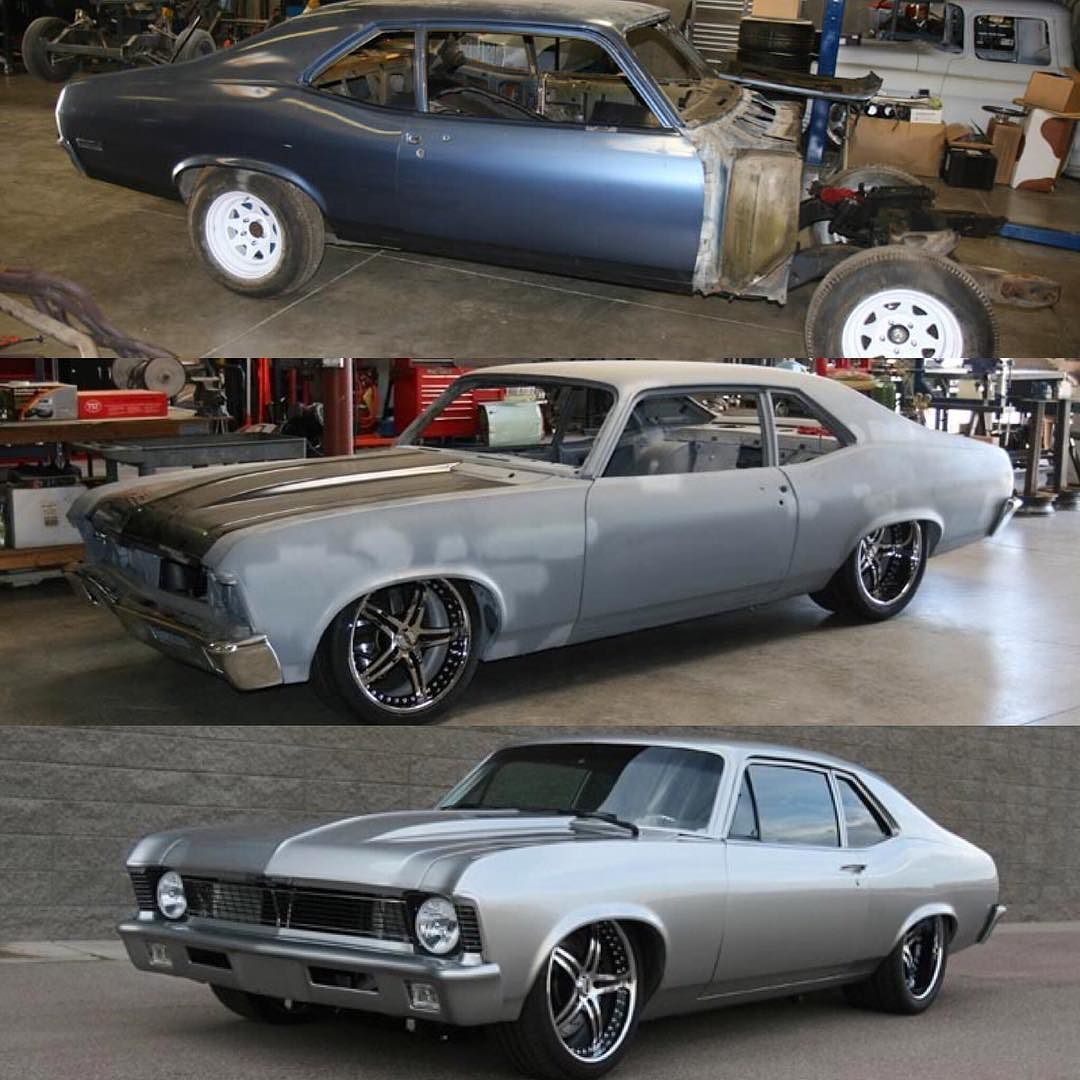 Here S A Little Transformation Of Our Ls7 70 Nova Fesler Feslerbuilt Feslernation Transformation Tran Pro Touring Cars Chevy Nova Motorcycle Camping Gear