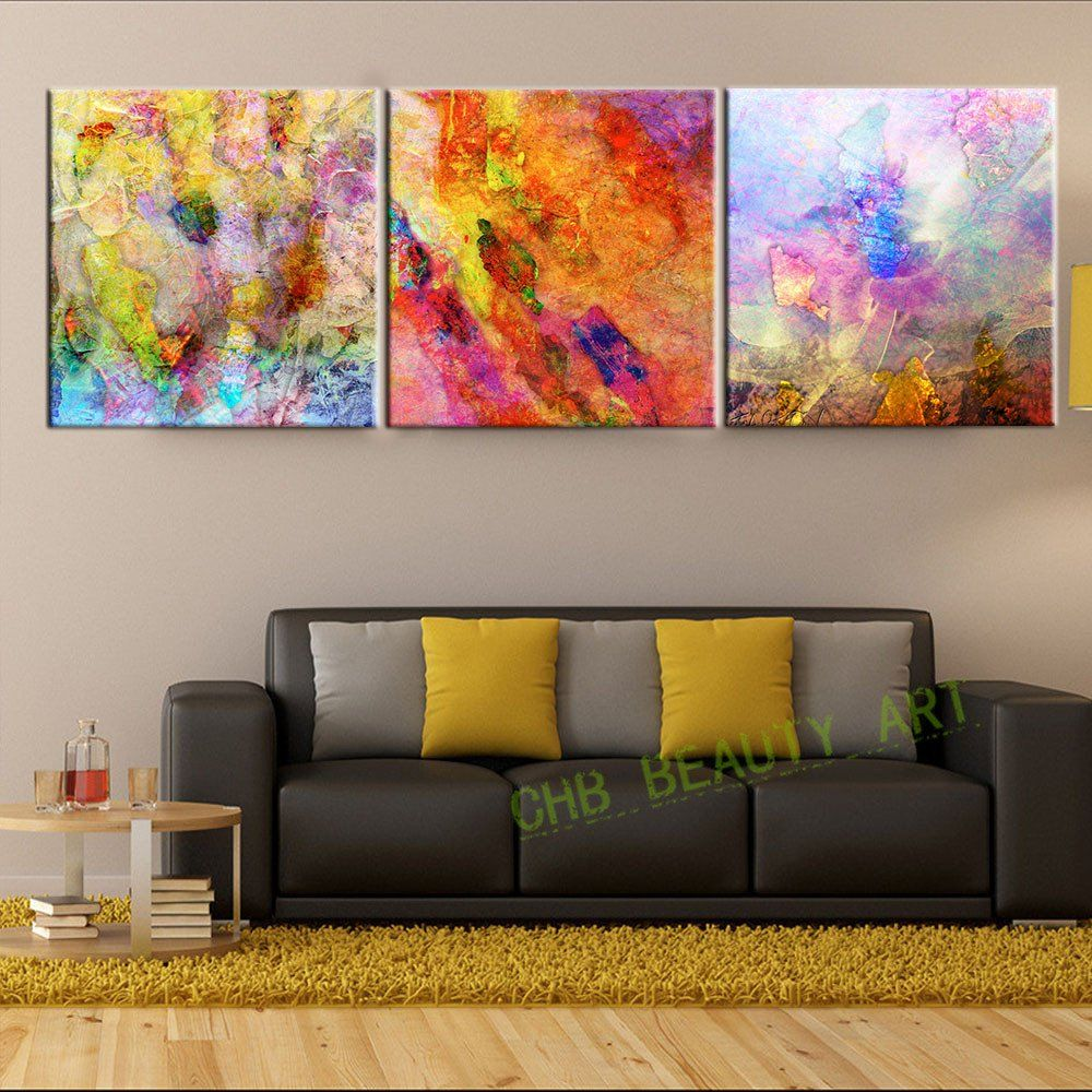 Paintings In Living Room Oil Painting Canvas Print Flower Red Rose Love Landscape Home